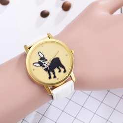 Женские кварцевые аналоговые кожаный ремешок наручные часы