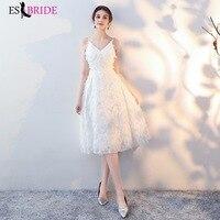 Sexy V neck Evening Gown White Evening Dresses Summer Sleeveless Evening Dress Arabic 2019 Formal Dress Women Elegant ES2463