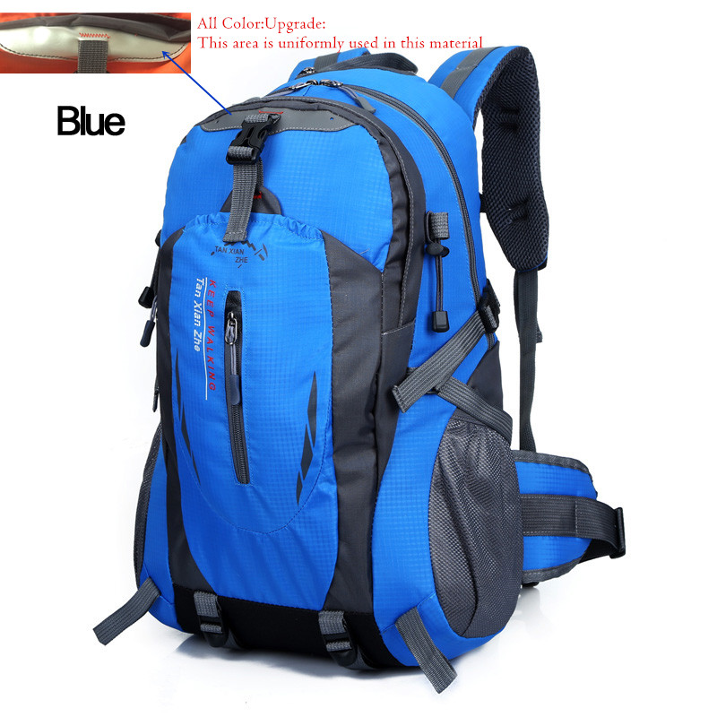 Waterproof Nylon Travel Skiing Backpack For Men Camping Climbing Bagpack Outdoor Hiking Bags Women Rucksack Pouch 40L