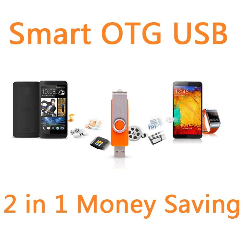 Smart Phone OTG font b External b font Rotation USB Flash Drive 64GB Pen Drive 32GB