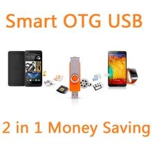 Smart Phone OTG External Rotation USB Flash Drive 64GB Pen Drive 32GB Flash Memory Micro USB Stick Storage Pendrive 16GB 8GB 2TB