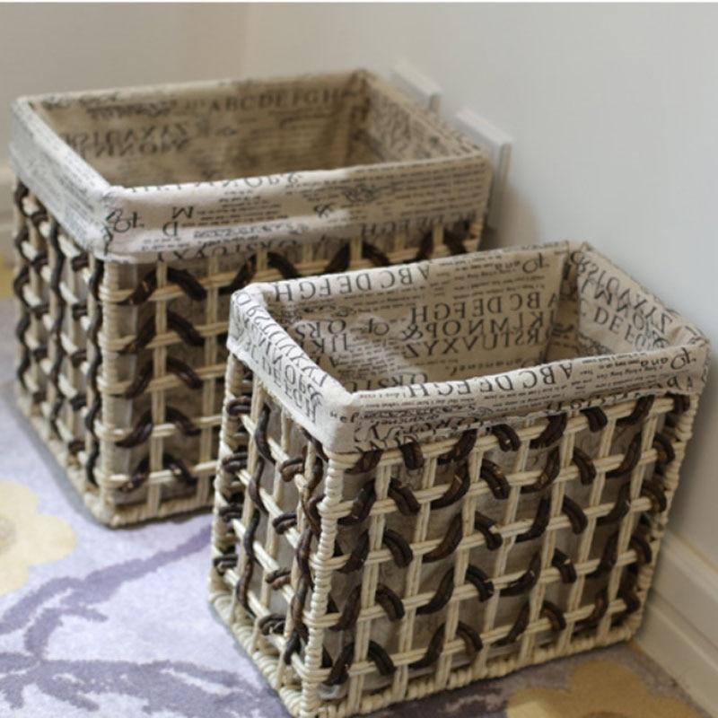 aliexpresscom buy rural decorative desktop storage basket vintage retro laundry basket for clothes newspaper books magazines storage baskets from - Decorative Storage Baskets