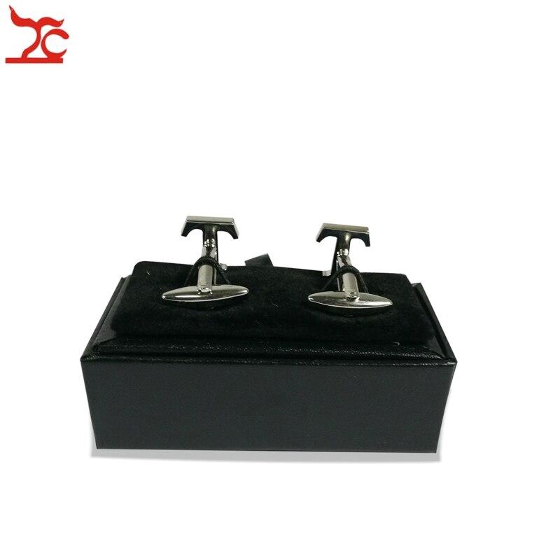 Quality Mens Cufflinks Package Casket Black Leather Cufflinks Jewelry Storage Organizer Gift Box Case Holder 8x4x3cm