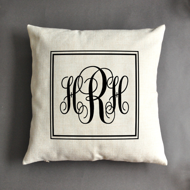 Monogrammed Pillow, Personalized Pillow, Christmas Gift, Mother\'s ...