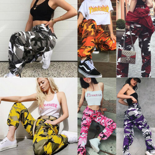 Women's Military Army Combat Camouflage Pant LOT Sports Camo Cargo Trousers Long Pants S-3XL