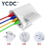 YCDC Universal 5 Ports 5V8A Sailboat Multi USB Home Travel Charger Power Adapter EU US UK