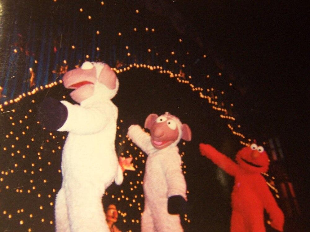 OISK debout mouton mascotte Costume Halloween noël fête d'anniversaire célébration carnaval robe corps complet accessoires tenue - 2