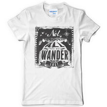 Cotton Short Sleeve White Tee Shirt Not All Those Who Wander Are Lost t shirts men clothing Tees Men'S Clothing Big Size:S-Xxxl(China)