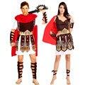 Romano antigo guerreiro gladiador Costumes Masquerade partido mulheres homens cavaleiro júlio césar Halloween adulto Cosplay casal Cotume