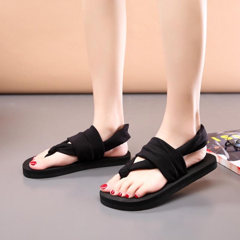 New 2018 Women Flip Flops Summer Beach Slippers for women Bohemian style Sweet Flat sandals Size 35 - 39 2016 summer korean version of the large size flip flops women slippers with a simple slippery beach sandals
