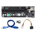 USB3.0 PCI Express Extender Riser Card Adapter Graphics Board 1x to 16x PCI-E SATA 15pin to 4pin Power Cable for BTC Mining 50cm