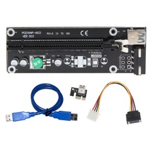 Usb3.0 pci express Extender адаптер Riser Card Графика Доска 1x к 16x pci-e SATA 15pin к 4PIN Мощность кабель для btc mining 50 см