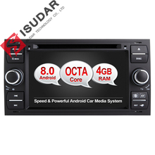 Android 8.0 Octa Cores 4GB RAM Car DVD Player For Ford/Mondeo/Focus/Transit/C-MAX  2 Din 7 Inch 32G ROM 3G/4G Wifi GPS Radio