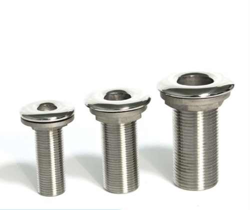"""2x Boat Thru Hull Fitting//Drain 7mm 1//2/"""" Hose Barb 316 Stainless Steel"""