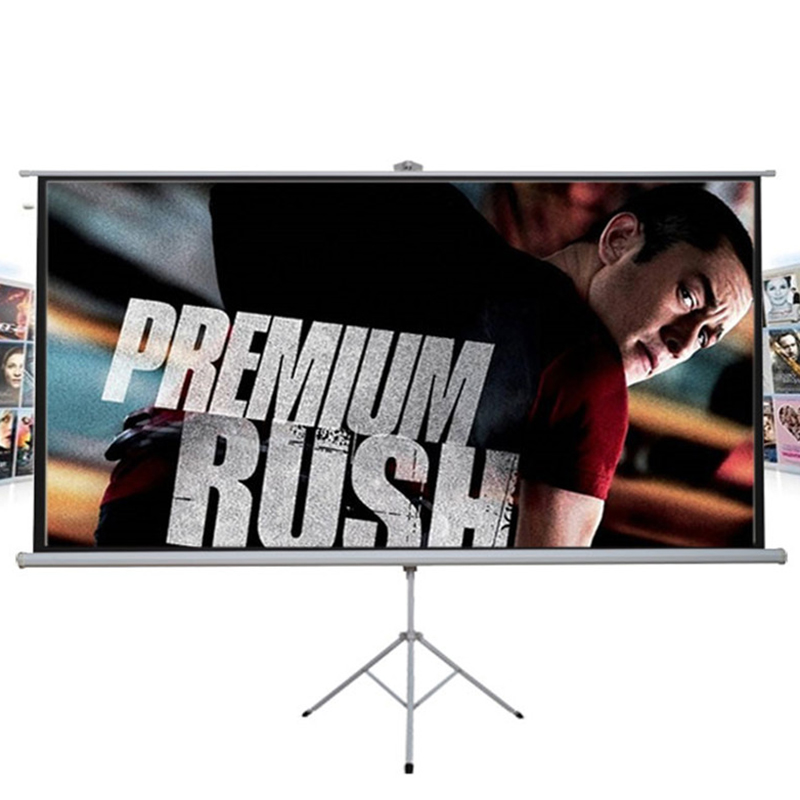 Fast Free Shipping! Bracket Projector Screens 72 inches 16:9 Tripod Projection Screen HD Portable Floor stand Matt White 72 inches and the authenticity of the tripod white plastic screen projector projector screen