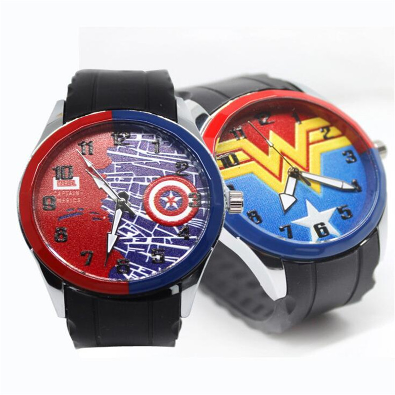 Movie Captain America Wonder Woman Cosplay Props Students Fashion Watch