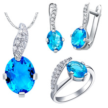 Plated NEW set of 925 Sterling Silver custom made pendant ear ring with micro insert