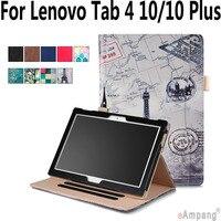100 High Quality Leather Case For Lenovo Tab 4 10 Plus Hand Hold Smart Sleep Awake