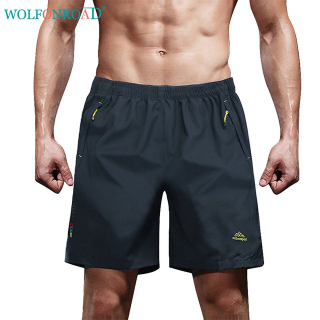 af0791fee79 WOLFONROAD Men Sports Stretch Camping Hiking Short Pants Outdoor Male Sport  Running Shorts Mountain Climbing Shorts L-XMCK-04