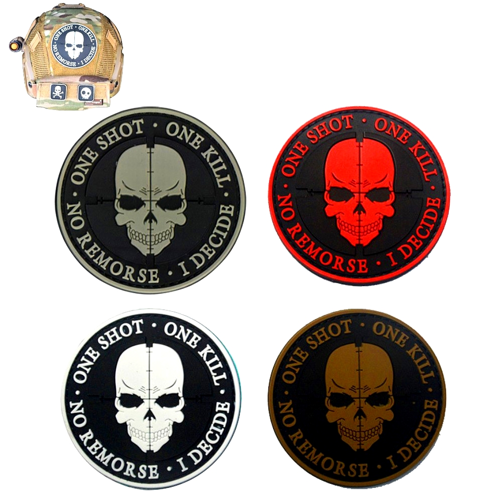 A-RIFLE ODG Tactical Combat Morale Patch EMB Hook and Loop Badge by BASTION