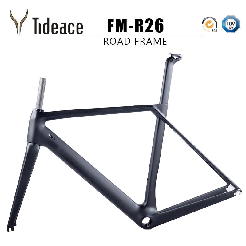 2018 NEW Chinese Carbon Road Frame T800 UD black Aero full carbon fiber road bike frame QR or thru axle 47/49/51/53/55cm smileteam t800 aero carbon road bike frame di2