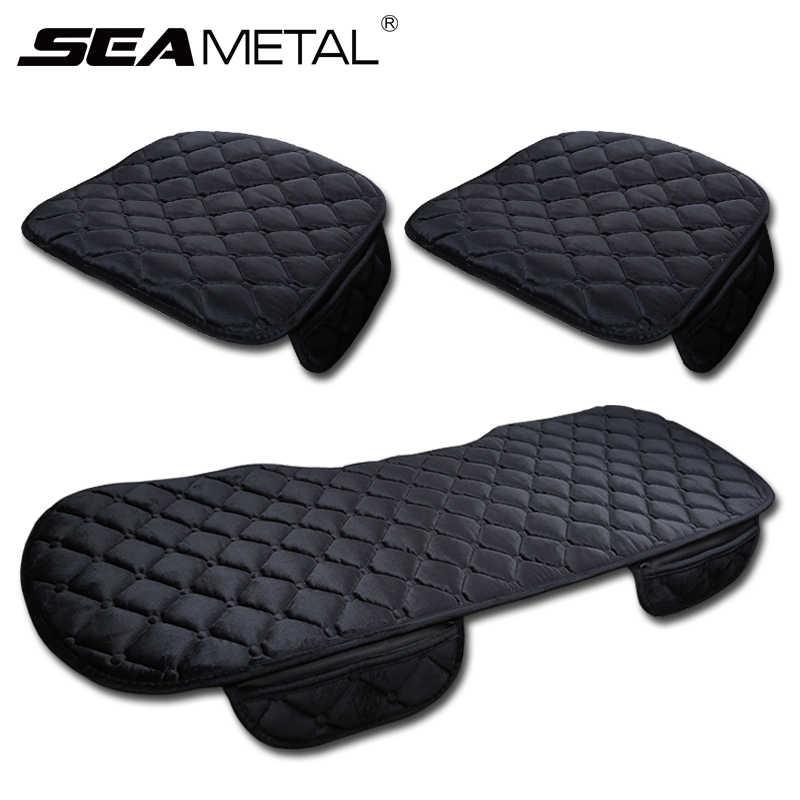 3 pçs inverno quente almofada de assento do carro universal auto macio assentos almofadas automóvel em carros cadeira capas protetor acessórios