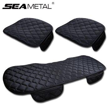 3 uds invierno cálido coche cojín para asiento Universal Auto asientos suaves cojines automóvil en coches cubiertas de la silla accesorios protectores