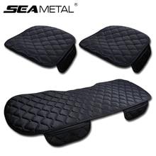 3PCS 겨울 따뜻한 자동차 좌석 커버 쿠션 범용 자동 부드러운 좌석 쿠션 자동차 자동차의 자 커버 보호자 액세서리