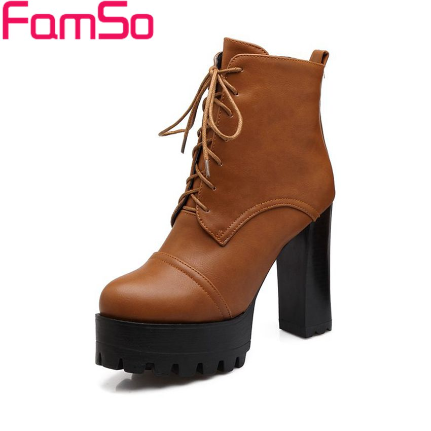 Plus Size34 43 2016 new Sexy font b Women b font Boots Black Spring Autumn High