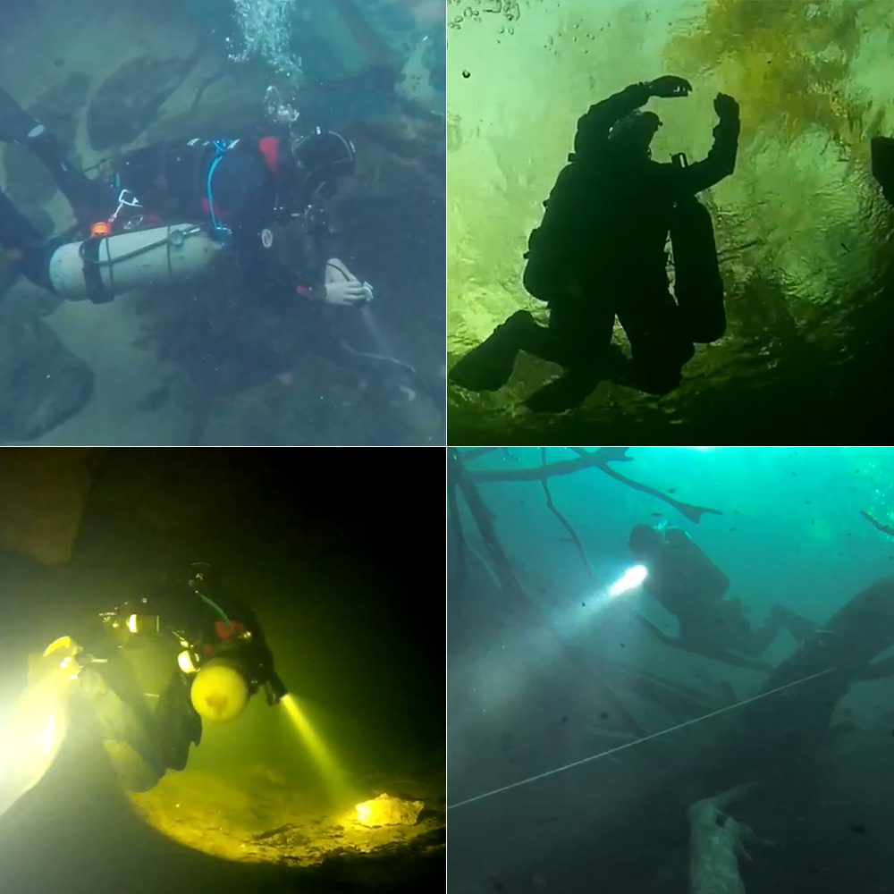 Lampe de poche de plongée TrustFire DF003 100 m sous marine 3000 lumen 3T6 3 x XM L T6 LED étanche torche et 2*26650 batterie et chargeur - 6