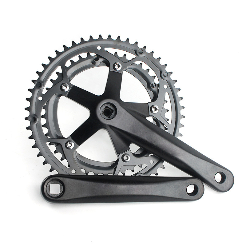 Road Bike Crankset 170MM 130BCD City Bike chain ring 42T 52T City Bicycle Integrated Chainwheel sprocket wheel