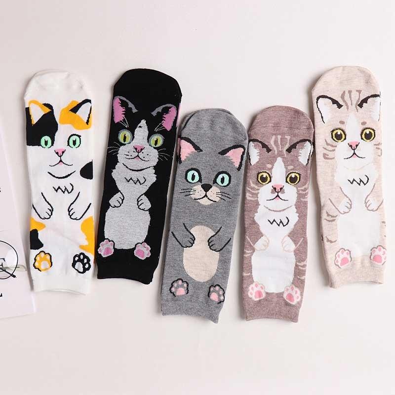 summer 2019 Cartoon Kawaii Women Socks Cute Animal Bull Terrier Beagle Short Funny Casual socken short skarpety bow socks in Stockings from Underwear Sleepwears