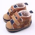 Otoño invierno Del Bebé Infantil Chicos Zapatos Bootie Newborn Infant Toddler Suela Blanda Antideslizante Primeros Caminante Del Bebé Zapatos de Prewalker Bebe