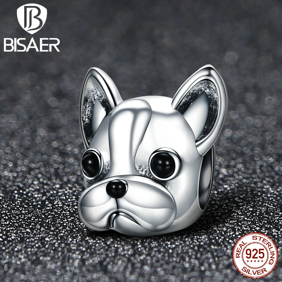 925 Sterling Silver French Bulldog Lovely Dog, Cute Animal Unicorn Beads Charms Fit Pan Bracelet Charms Silver 925 Original