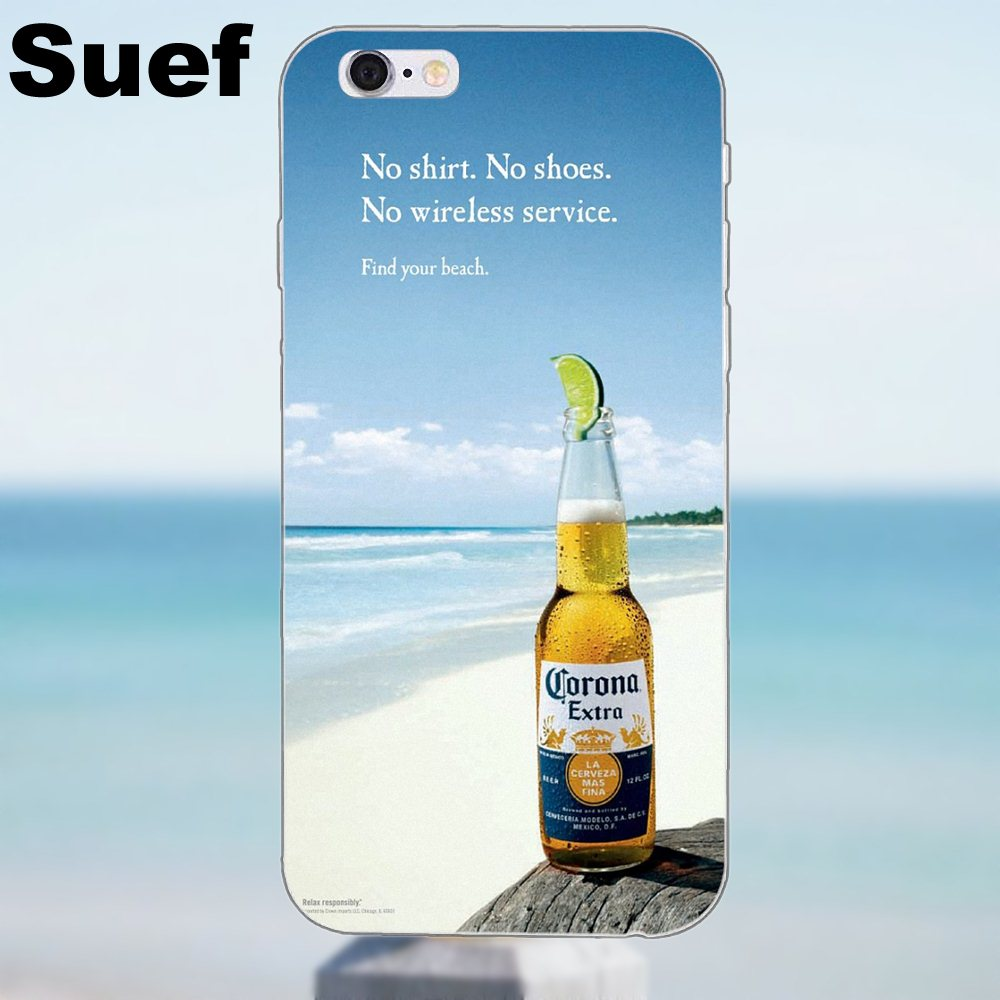 Suef For iPhone X 4 4S 5 5S 5C SE 6 6S 7 8 Plus Samsung Galaxy A3 A5 J1 J3  J5 J7 2016 2017 Soft TPU Call Box Corona Extra Beer