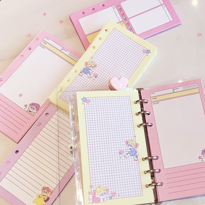 1pcs Inner page Notebook  Cartoon pink Diary loose-leaf Book Exercise Composition Binding Note Notepad1pcs Inner page Notebook  Cartoon pink Diary loose-leaf Book Exercise Composition Binding Note Notepad