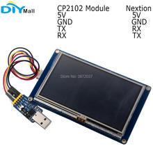 شاشة لمس HMI أساسية Nextion + وحدة تسلسلية CP2102 لـ Arduino RPi 2.4 بوصة 2.8 بوصة 3.2 بوصة 3.5 بوصة 4.3 بوصة 5.0 بوصة