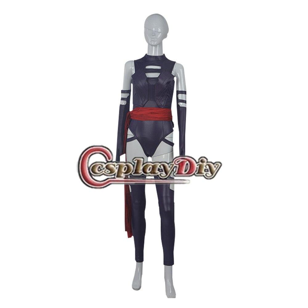 Cosplaydiy Movie X Men Apocalypse Psylocke Costume Adult Women Halloween Carnival Cosplay Costumes Custom Made