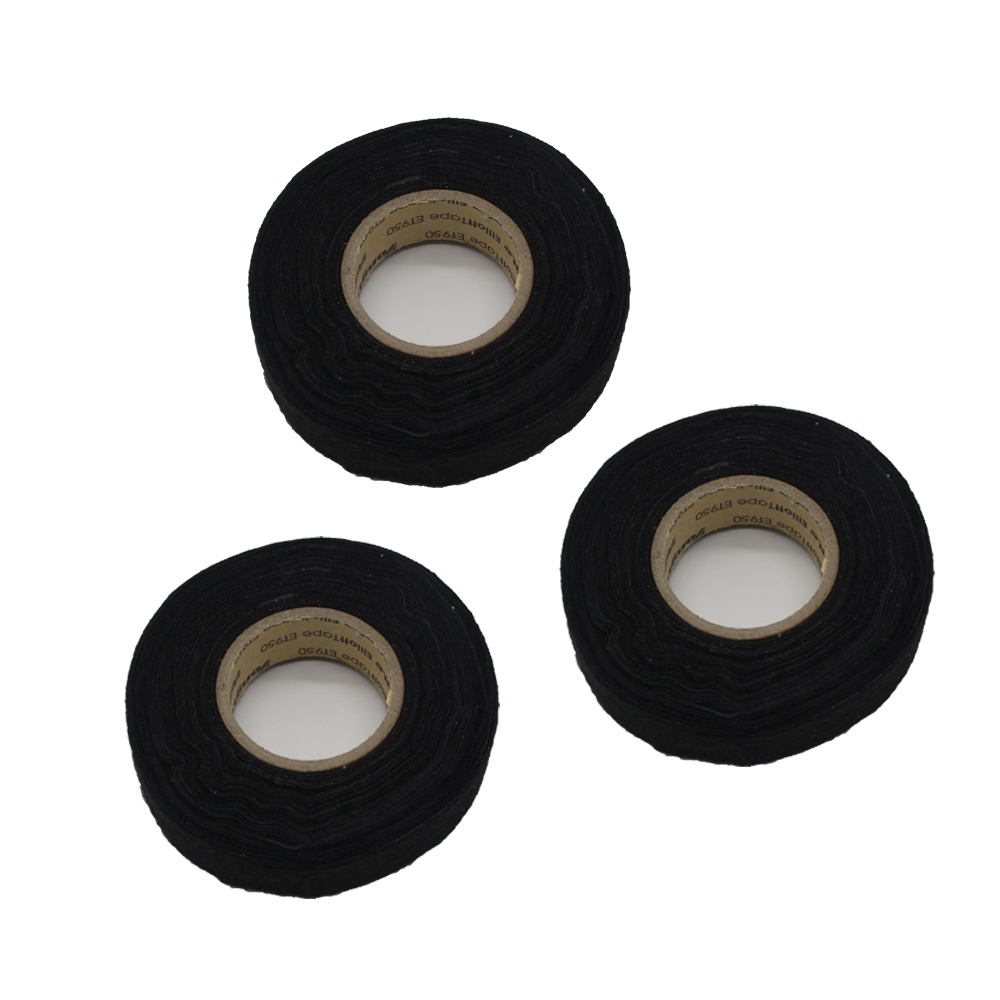 3pcs Lot 19mm15m Wiring Harness Velvet Cloth Tape For Car Heat Resistant Automotive Soft Anti Wear Resistance In Cables Adapters Sockets From