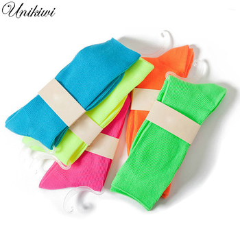 Fluorescent Candy Color Socks