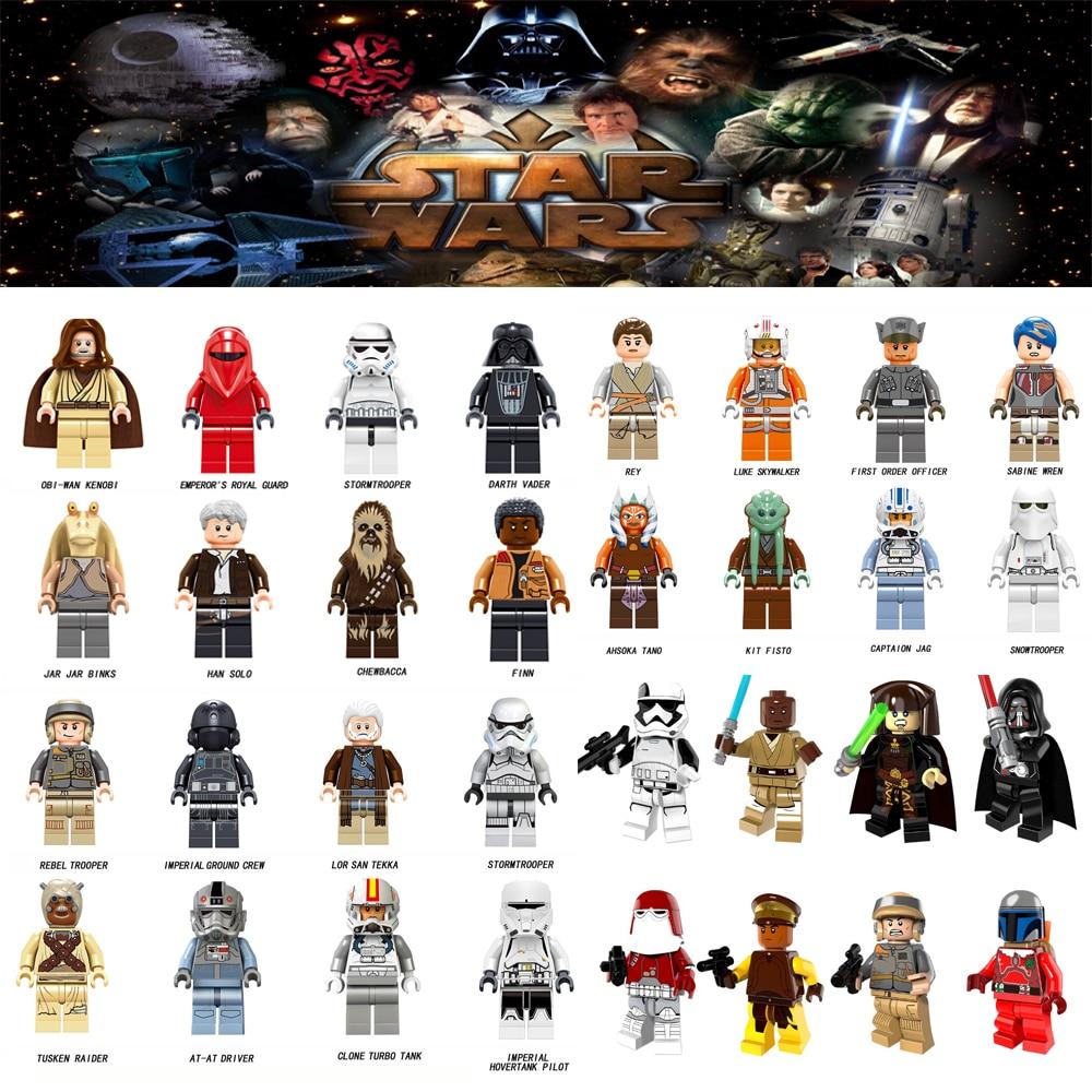Für legoing Star Wars Tusken Raider At-at-treiber Rey Jar Jar binks San Tekka Modelle Bausteinziegelsteine Spielzeug starwars zahlen