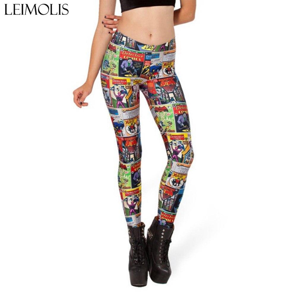 LEIMOLIS 3D printed fitness push up workout   leggings   women Cartoon Comics Superhero plus size High Waist punk rock panties