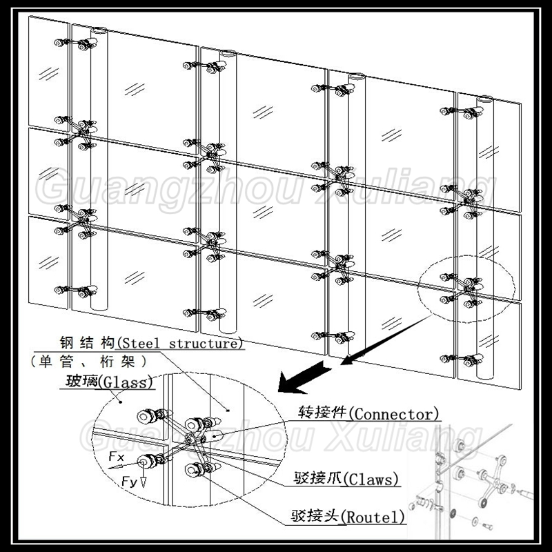 Point fixing glass curtain wall on Aliexpress com   Alibaba