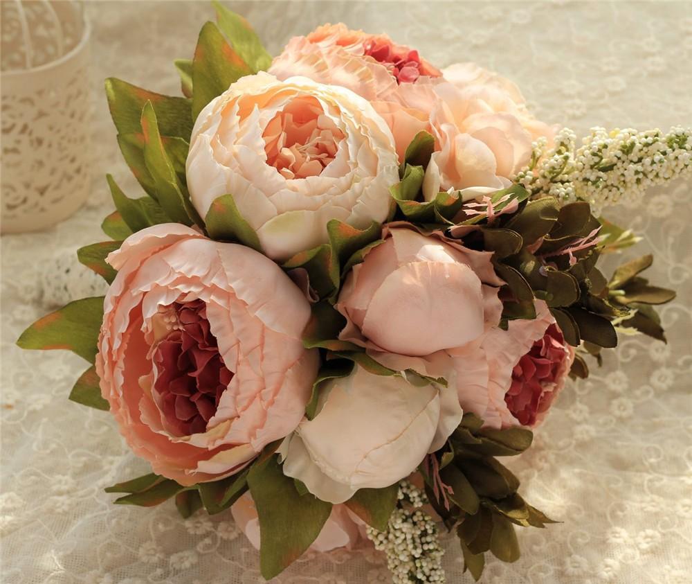 Artificial flower Wedding Bouquet Bouquet Bridal Bouquet Bridesmaid Wedding Decoration Event Party Supplies buques de noivas (13)