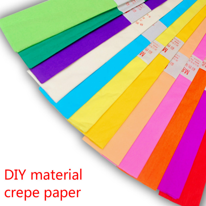 155cm* 54cm10color goffered pap handmade paper environment layout decorative paper diy paper flower paper tree handmade material