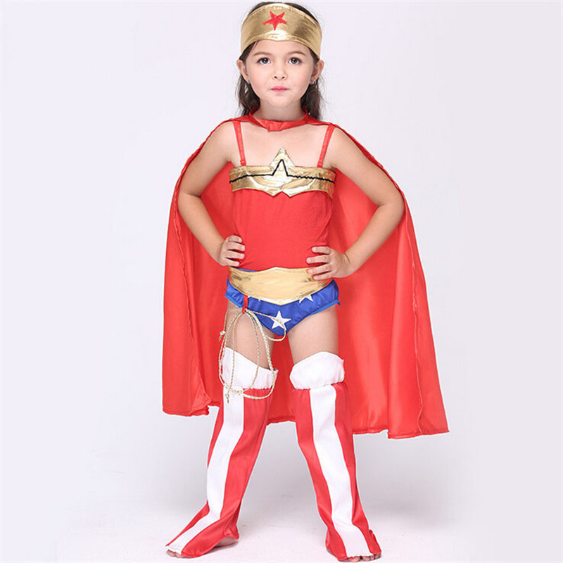 child wonder woman costume halloween kids superhero cape costume disfraces infantiles superheroes costumes in girls costumes from novelty special use on