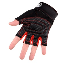 New Fitness Gloves Half Finger Breathable Non-slip Gloves 5 Colors Gym Dumbbell Training Gloves Weight Protection Palm