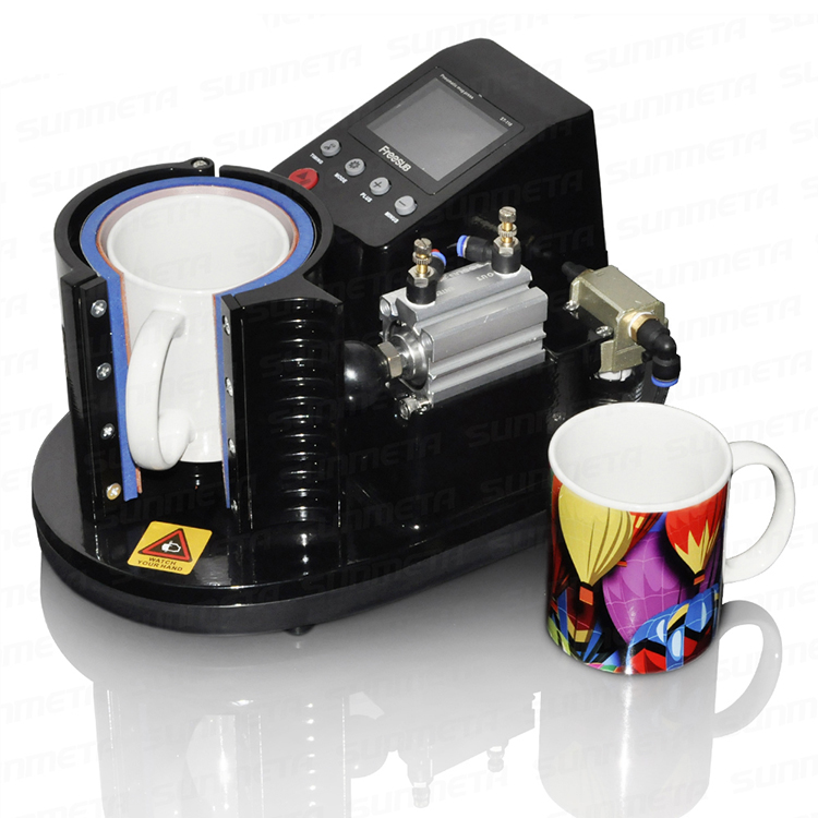 Mini ST110 Pneumatic Vertical Multi-function Heat Transfer Press Thermal Printing Mug Cup Machine st110 pneumatic sublimation vacuum machine automatic heat press machine 11oz mug thermal transfer coffee magic cup mug printing