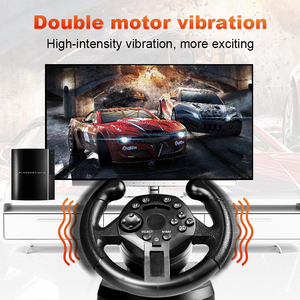 Image 4 - Data Frog Racing Game Pad 180 Degree Steering Wheel Vibration Joysticks For PS3 Game Remote Controller Wheels Drive For PC