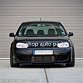 GLOSS BLACK FRONT RADIATOR BUMPER GRILLE BADGES REAR BOOT EMBLEM VW GOLF MK4 TDI GTI